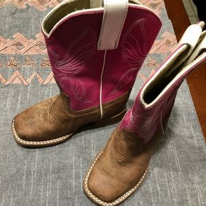 Anderson Bean Cowgirl Toddler Boots Sz 7